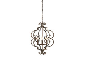 Kanab Antique Copper Finish Metal Pendant Light