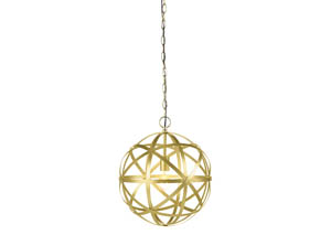 Jedidiah Gold Finish Metal Pendant Light