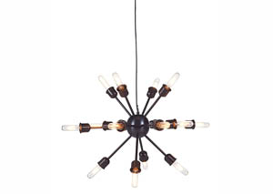 Jesenia Black/Nickel Finish Metal Pendant Light