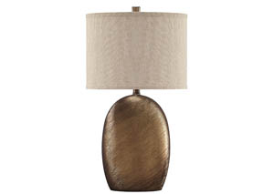 Lewelyn Copper Finish Ceramic Table Lamp (Set of 2)