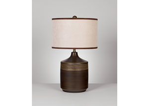 Brown Karissa Ceramic Table Lamp (Set of 2),Signature Design by Ashley