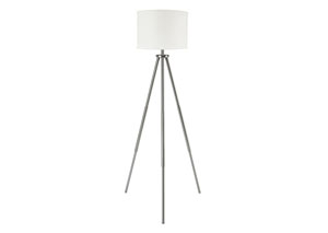 Susette Brushed Silver Finish Metal Floor Lamp