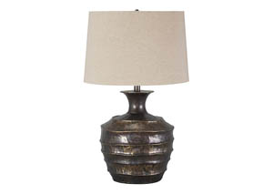 Kymani Antique Bronze Finish Metal Table Lamp