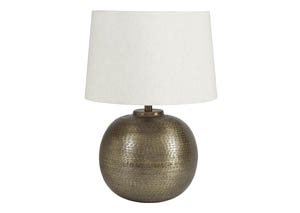 Darva Antique Brass Finish Metal Table Lamp