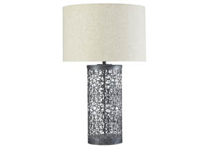 Traci Antique Black Metal Table Lamp