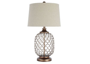 Gold Finish Metal Table Lamp