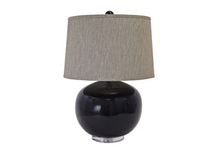 Black Poly Table Lamp,Signature Design by Ashley