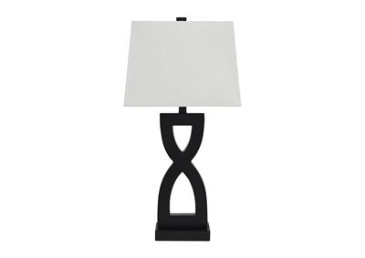 Amasai Black Poly Table Lamp (Set of 2)