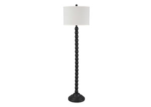 Shellany Antique Black Poly Floor Lamp