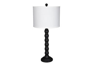 Shellany Antique Black Poly Table Lamp (Set of 2)