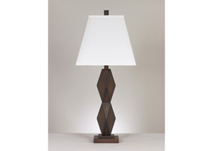 Natane Dark Brown Poly Table Lamp (Set of 2)