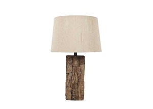 Selemah Light Brown Wood Table Lamp