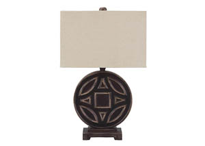 Tabrimon Antique Black Wood Table Lamp