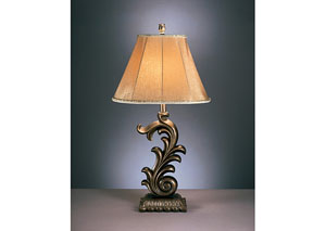 Eliza Bronze Poly Table Lamp (Set of 2),Signature Design by Ashley