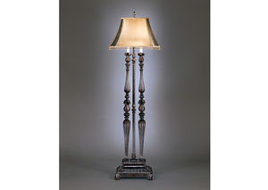 Dark Brown/Gold Desana Poly Floor Lamp