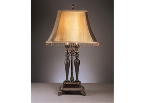 Dark Brown/Gold Desana Poly Table Lamp (Set of 2)