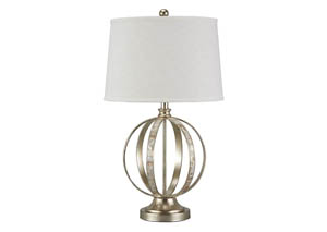 Shaunnea Silver Leaf Metal Table Lamp,Signature Design by Ashley