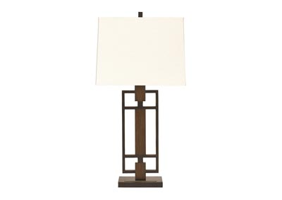 Bronze & Wood Finish Omaris Metal Table Lamp (Set of 2)