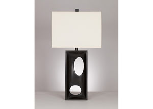 Maxine Black Poly Table Lamp (Set of 2)