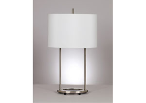 Maisie Nickel Table Lamp (Set of 2),Signature Design by Ashley