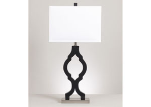 Rosetta Black/Silver Poly Table Lamp
