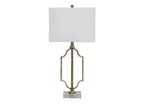 Arabela Antique Brass Finish Metal Table Lamp