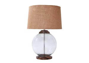 Shandel Transparent Glass Table Lamp,Signature Design by Ashley