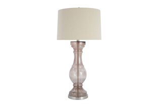 Light Gray Glass Table Lamp,Signature Design by Ashley