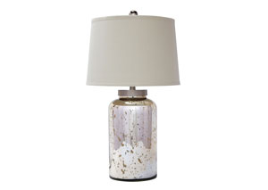 Gold Finish Glass Table Lamp