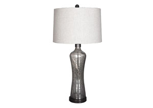Sharrona Gray Glass Table Lamp