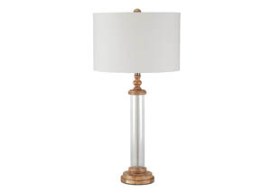 Tabby Clear/Natural Glass Table Lamp