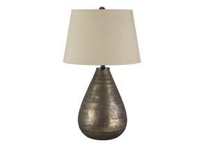 Taber Antique Gray Glass Table Lamp