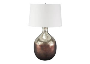 Tabish Mercury Glass/Brown Glass Table Lamp