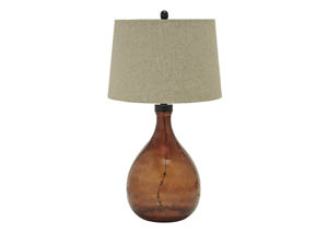 Arayna Brown Glass Table Lamp