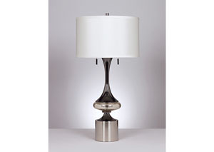 Chrome Marsha Metal Table Lamp (Set of 2),Signature Design by Ashley