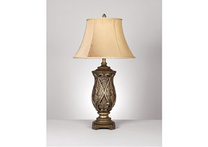 Brass Katarina Poly Table Lamp (Set of 2)