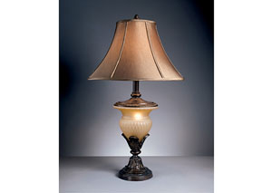 Beige/Bronze Danielle Poly Table Lamp (Set of 2),Signature Design by Ashley