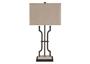 Malik Brown Metal Table Lamp