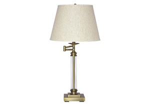 Arwel Antique Brass Finish Glass Table Lamp