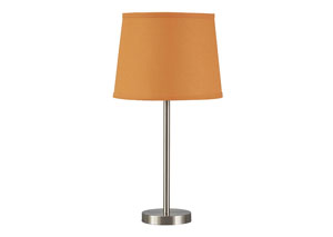 Shonie Orange/Silver Finish Metal Table Lamp