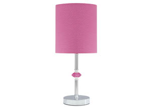 Sommerville Pink/Silver Finish Metal Table Lamp
