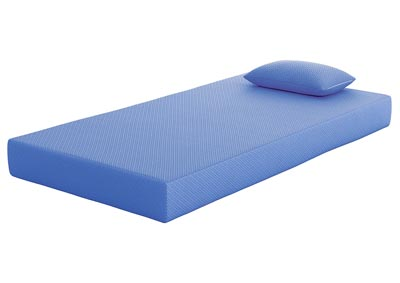 iKidz Blue Twin Mattress & Pillow