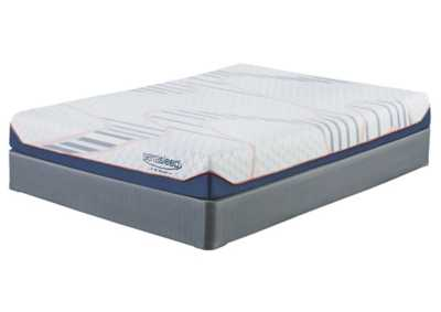 8 Inch MyGel White California King Mattress w/Foundation
