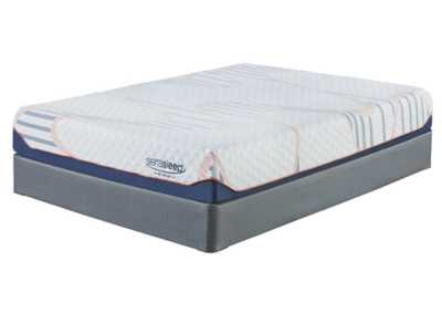 10 Inch MyGel White Queen Mattress w/Foundation,Sierra Sleep by Ashley