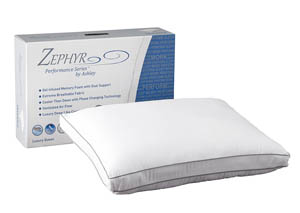 Zephyr Opulence White Gel Memory Foam Pillow,Sierra Sleep by Ashley
