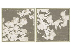 Baibre Cream/Taupe Wall Art Set (Set of 2)