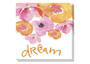 Jachai Pink/Orange/White Wall Art