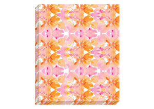 Jachai Orange/Pink/White Wall Art