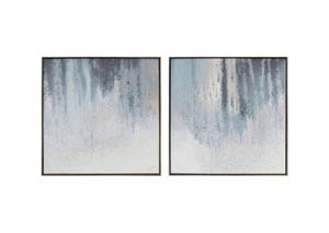 Dyan Blue/White Wall Art Set,Signature Design by Ashley