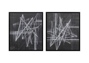 Duena Black/White Wall Art Set,Signature Design by Ashley